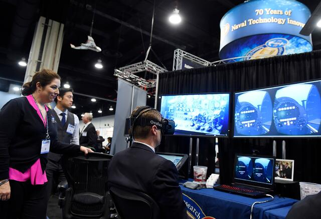 Virtual Reality at Trade Show