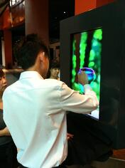 Experiential Screen at trade show