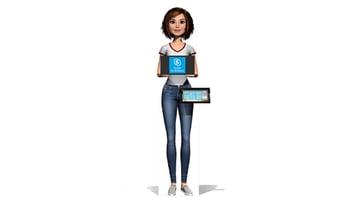 PRSONAS Avatar with touchscreen